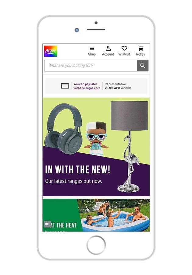 Argos Mobile Website