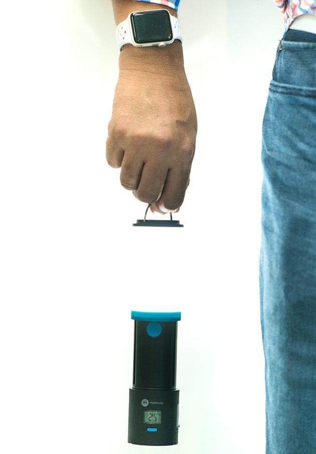 Motorola Lamp with Degree Meter